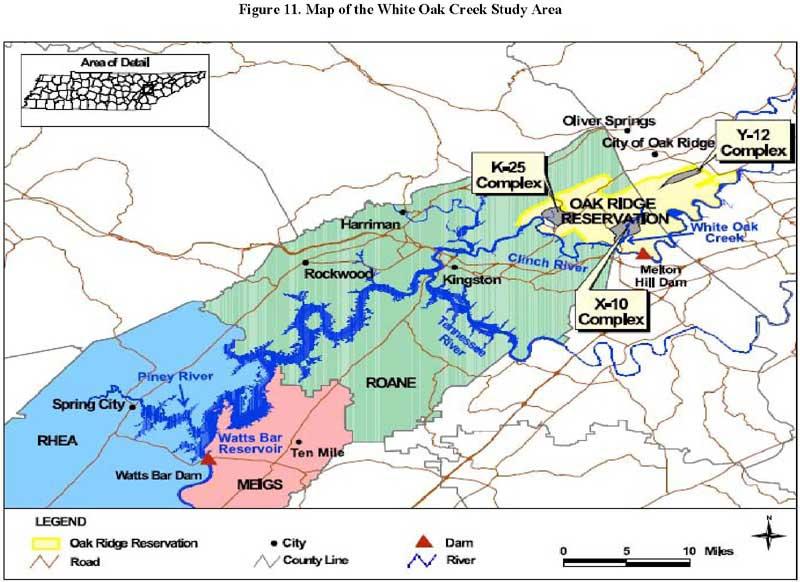 Atsdr Pha White Oak Creek Radionuclide Releases Oak