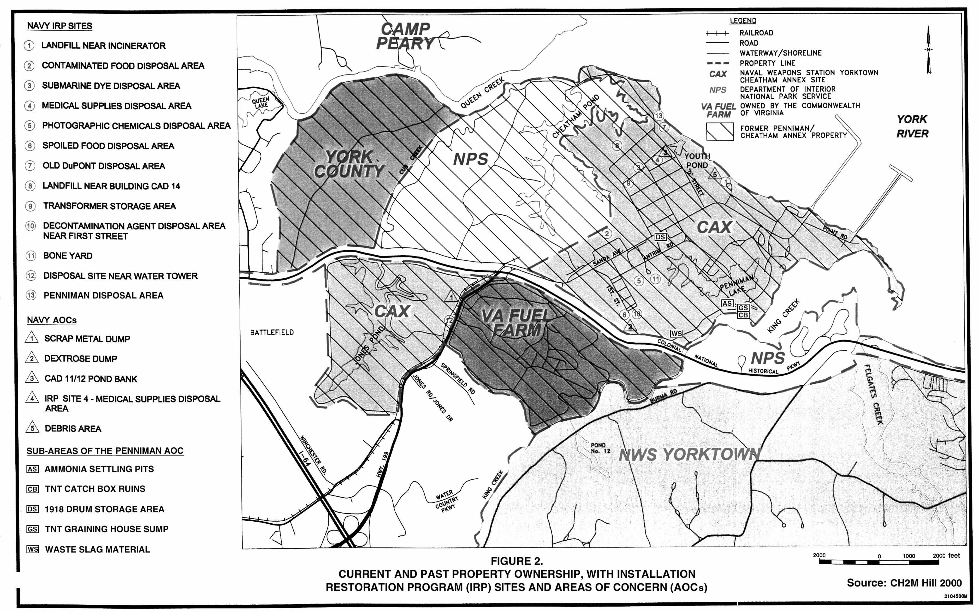 Superfund Map Naval Weapons Station Yorktown