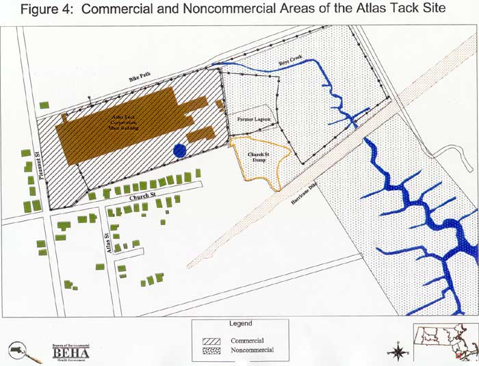 Commercial and Noncommercial Areas of the Atlas Tack Site
