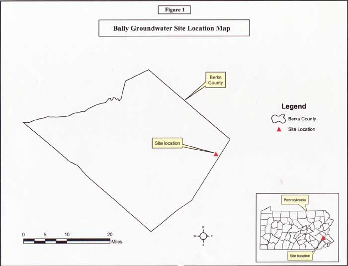 Bally Groundwater Site Location Map
