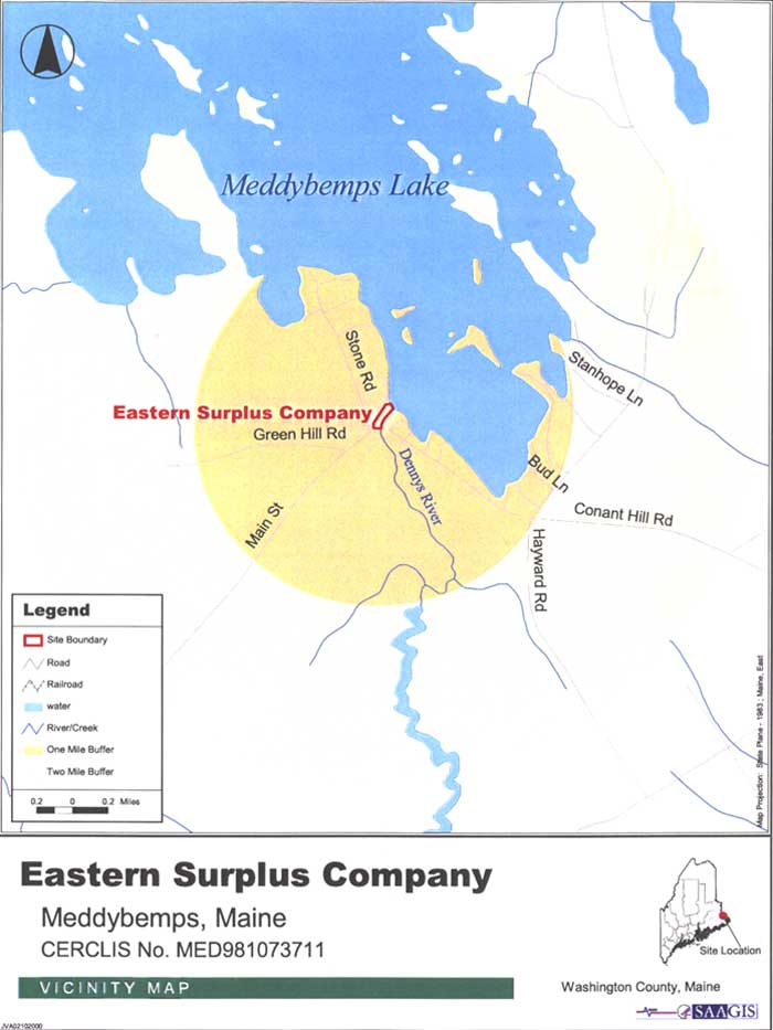 Eastern Surplus Vicinity Map