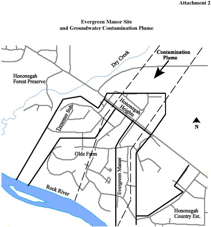 Evergreen Manor Site and Groundwater Contamination Plume