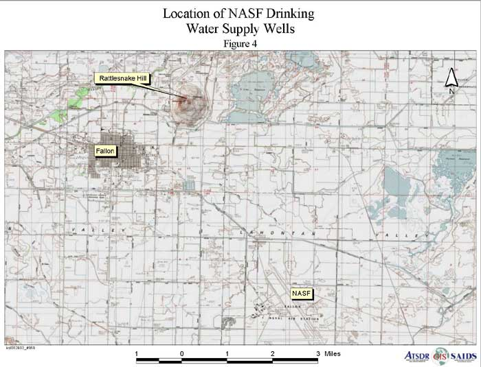 Location of NASF Drinking Water Supply Wells