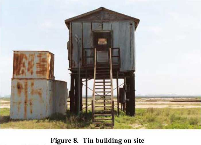 Tin building on site