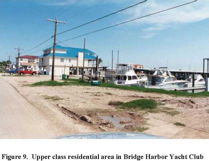 Upper class residential area in Bridge Harbor Yacht Club