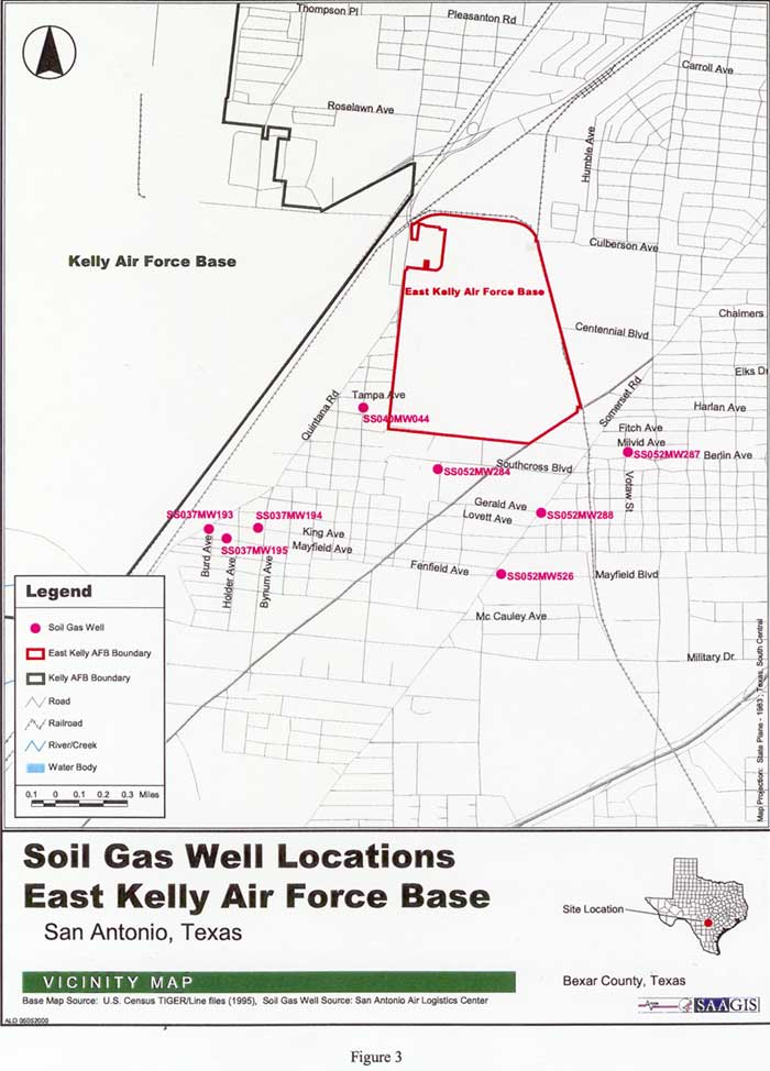 Soil Gas Well Locations