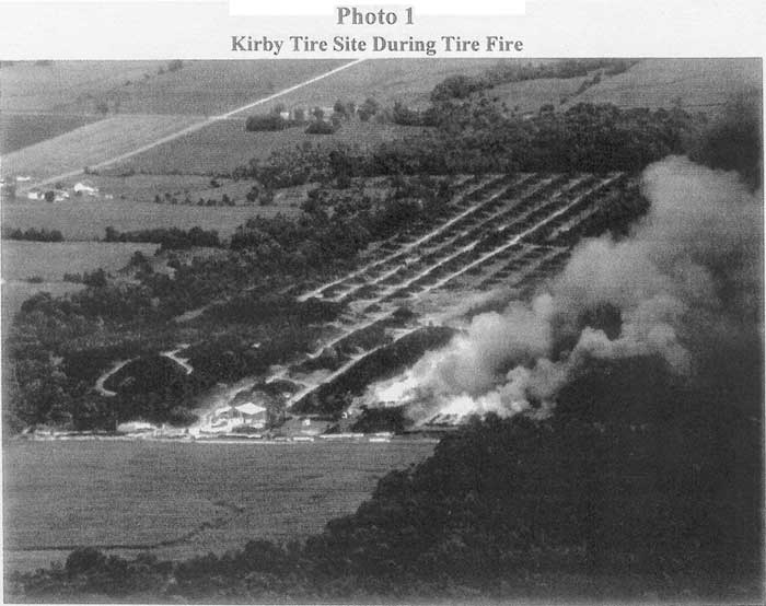 Kirby Tire Site During Tire Fire