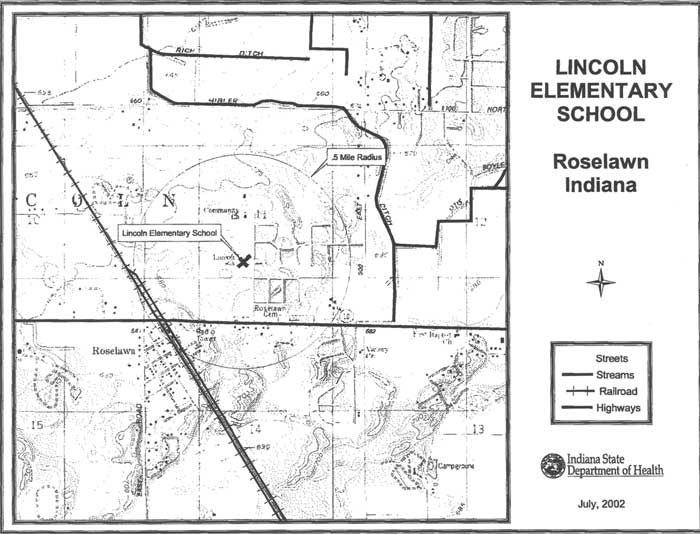 GIS Map of Lincoln Elementary School and Surrounding Area