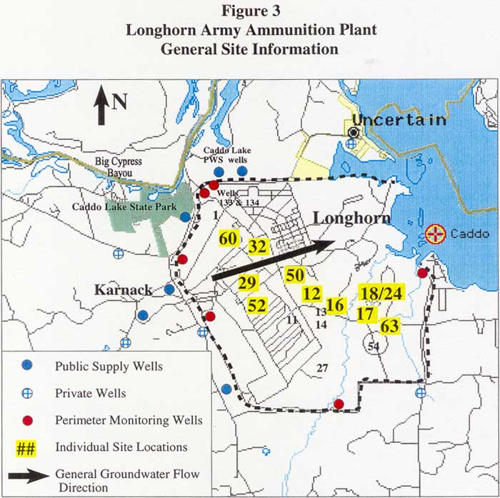 General Site Information and General Groundwater Flow Direction