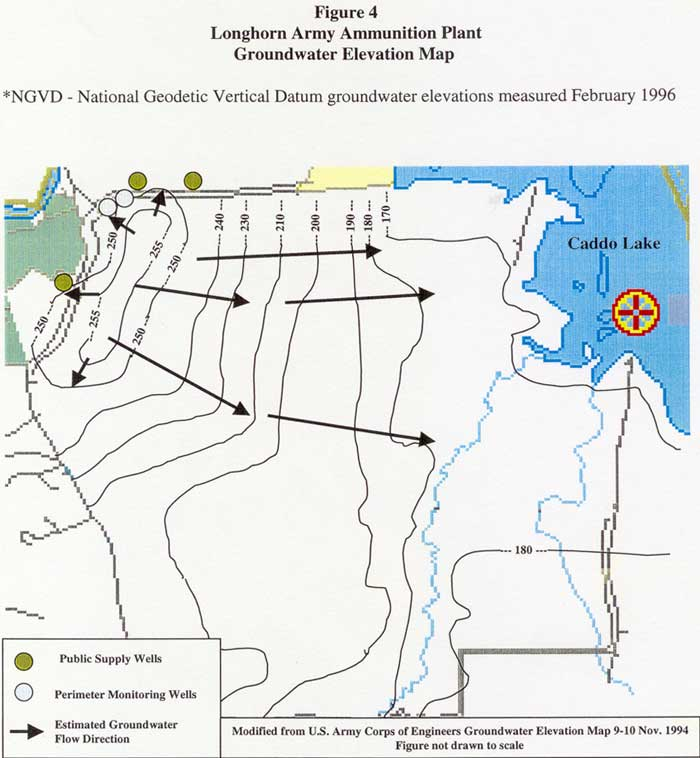 Longhorn Army Ammunition Groundwater Elevation Map