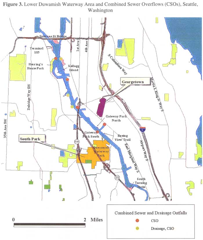 Lower Duwamish Waterway Area and Combined Sewer Overflows (CSOs), Seattle, Washington