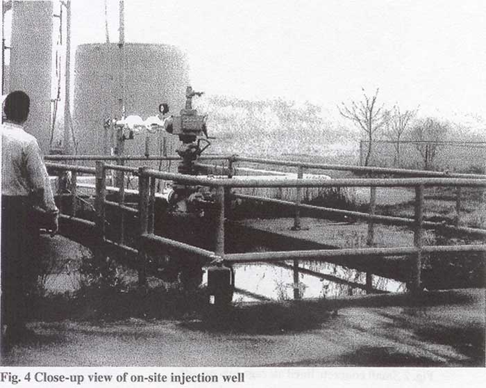 Close-up view of on-site injection well