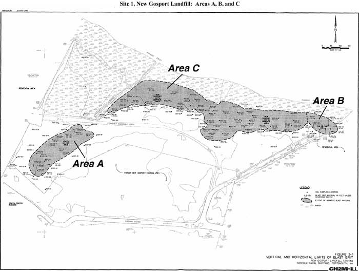 Site 1, New Gosport Landfill: Areas A, B and C