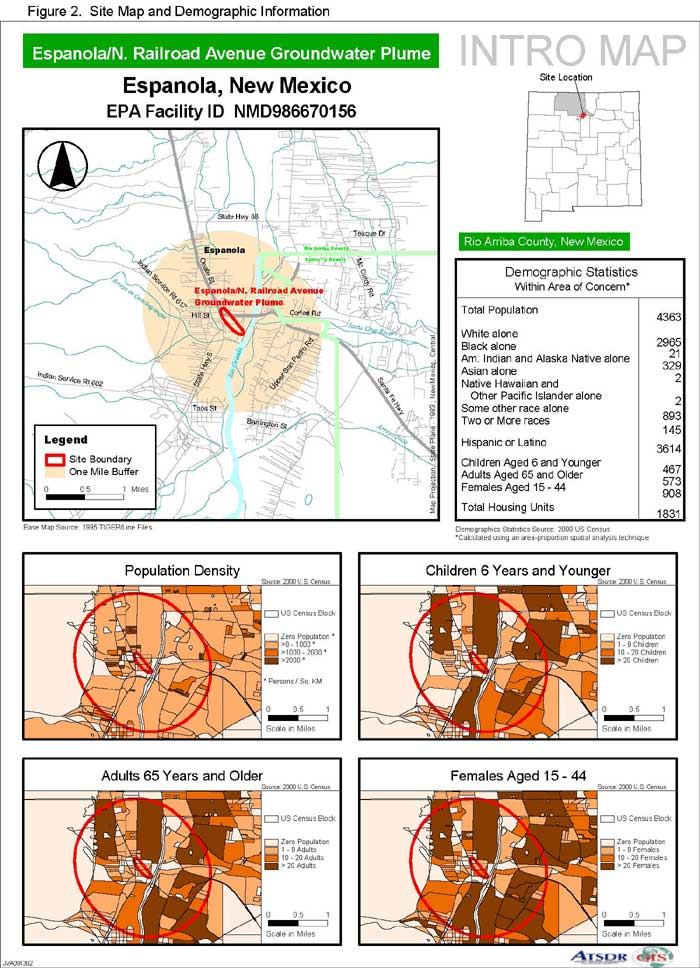 Site Map and Demographic Information