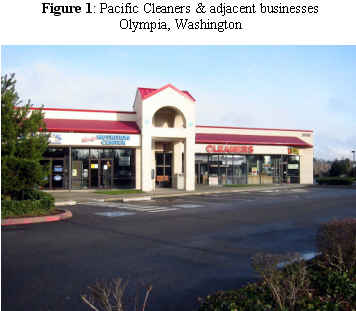 Pacific Cleaners & adjacent businesses, Olympia, Washington