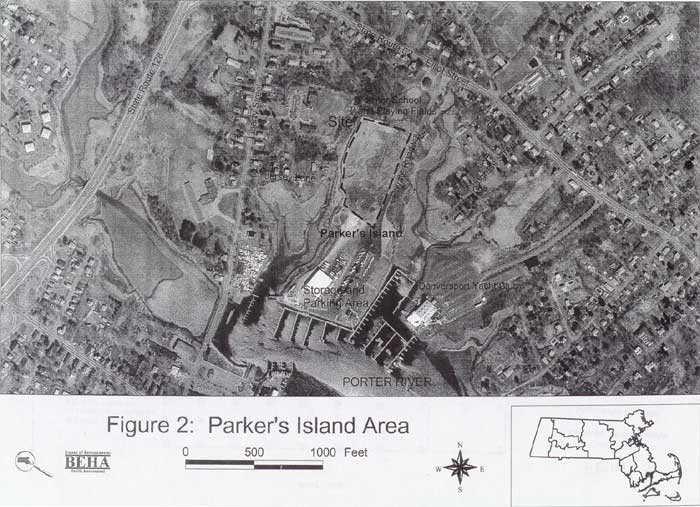 Parker's Island Area Map