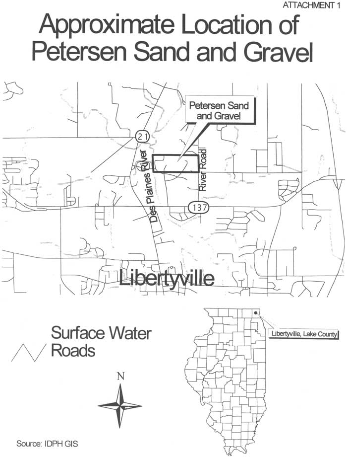 Approximate Location of Petersen Sand and Gravel