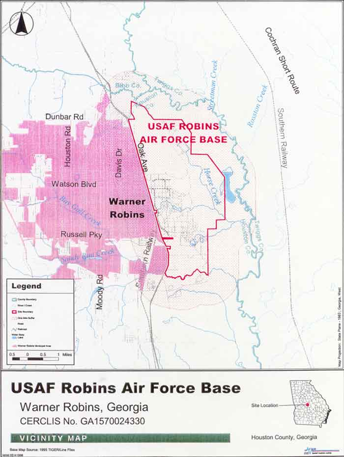 USAF Robins Air Force Base Vicinity Map