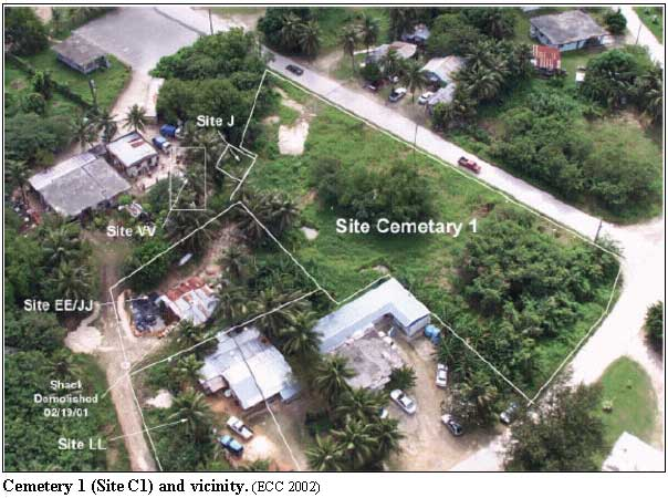 Cemetery 1 (Site C1) and vicinity
