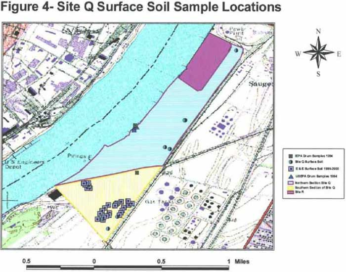 Site Q Surface Soil Sample Locations
