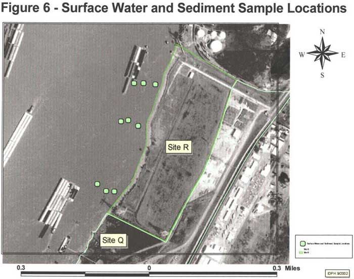 Surface Water and Sediment Sample Locations