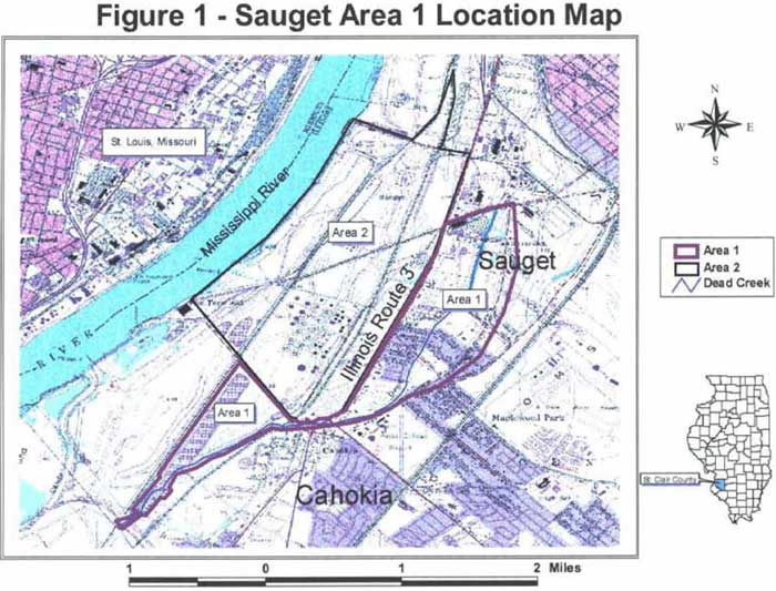 Sauget Area 1 Location Map
