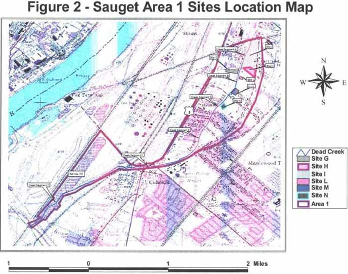 Sauget Area 1 Sites Location Map