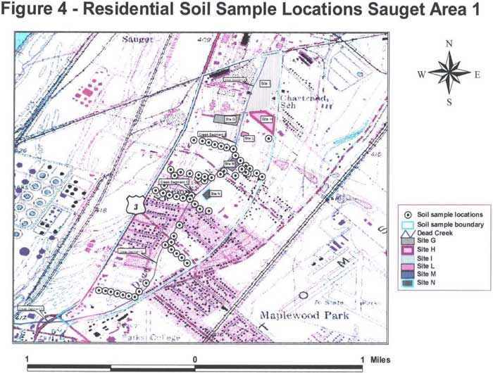 Residential Soil Sample Locations Sauget Area 1