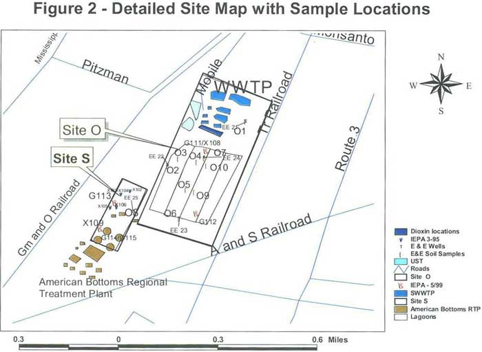 Detailed Site Map with Sample Locations