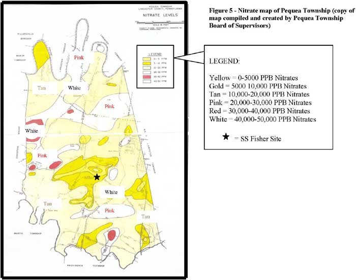 Nitrate Map of Pequea Township