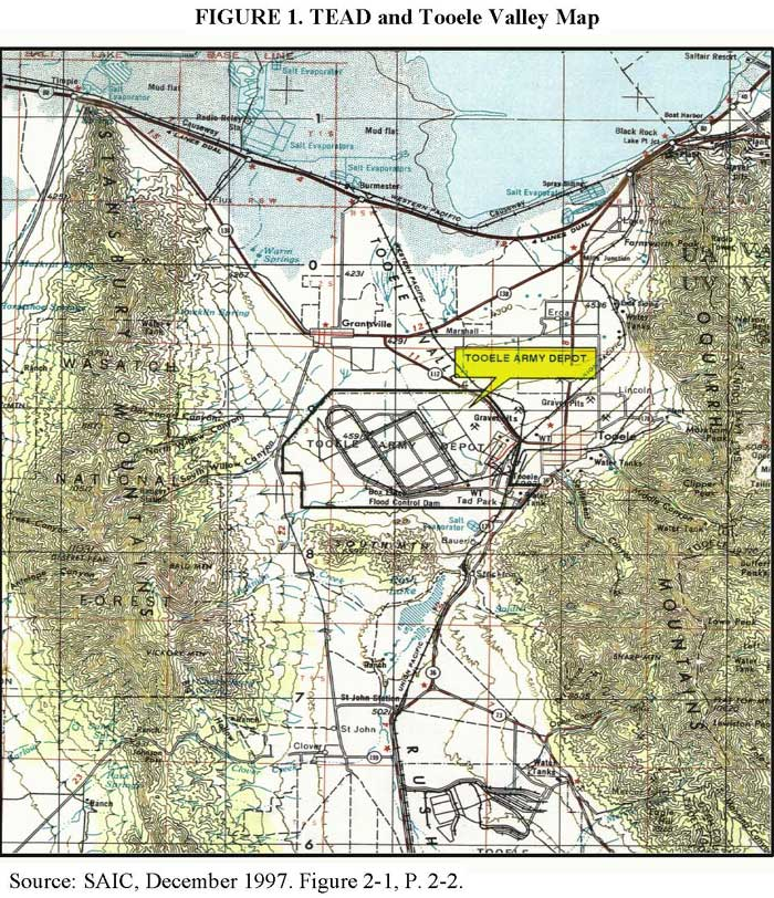 TEAD and Tooele Valley Map