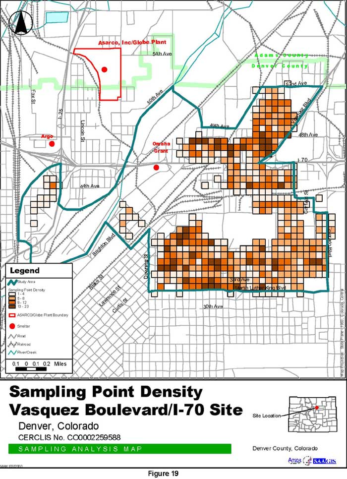 Sampling Point Density Sampling Analysis Map