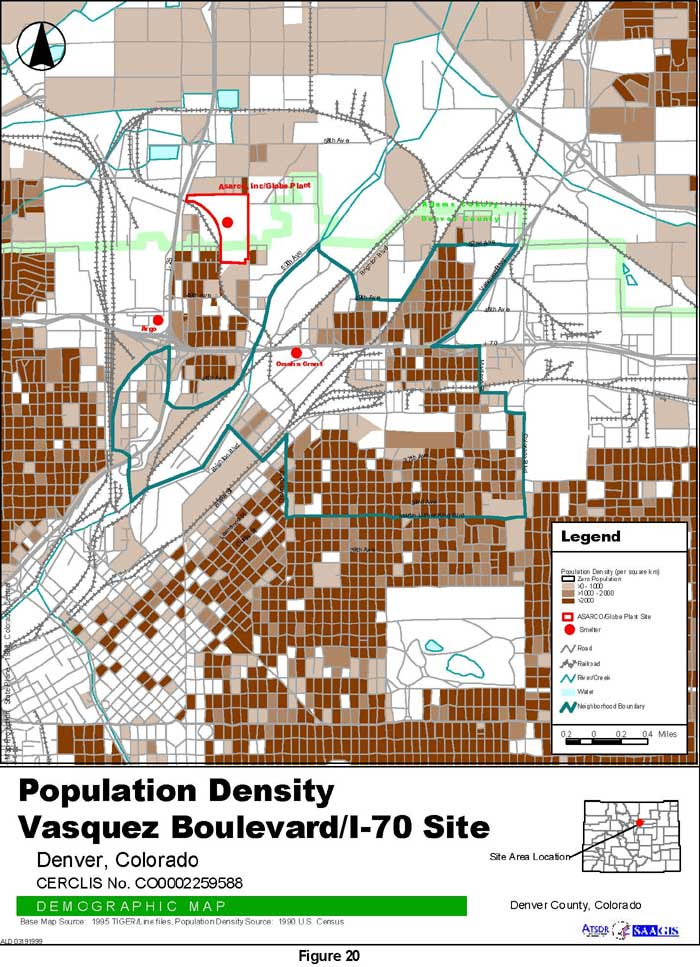 Population Density Demographic Map