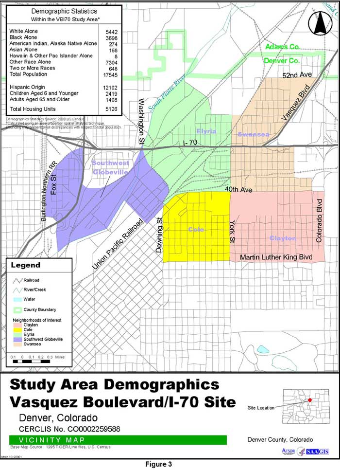 Study Area Demographics Vicinity Map