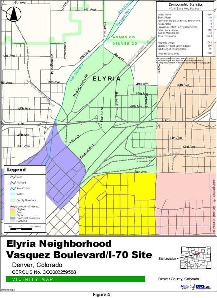 Elyria Neighborhood Vicinity Map