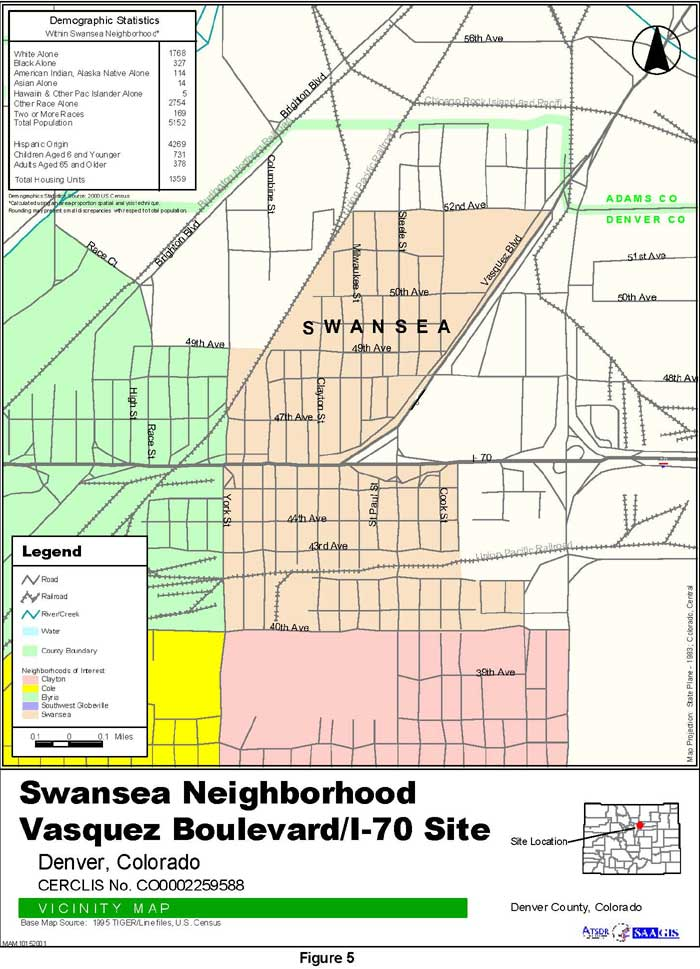 Swansea Neighborhood Vicinity Map