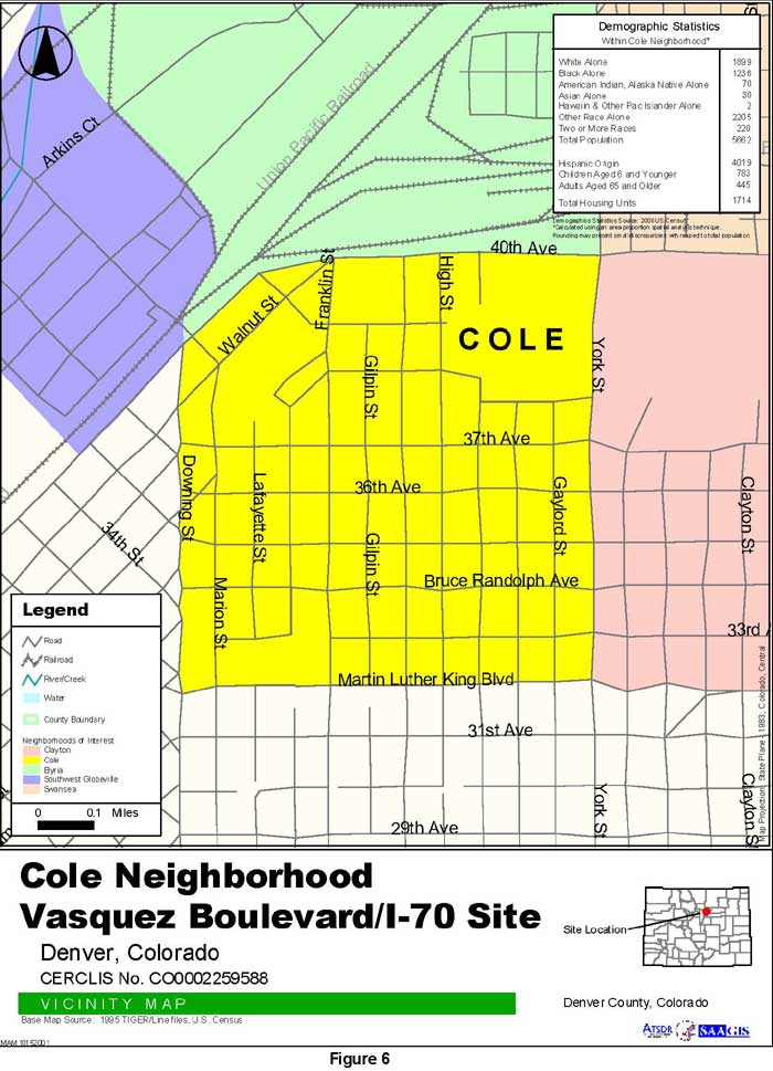 Cole Neighborhood Vicinity Map