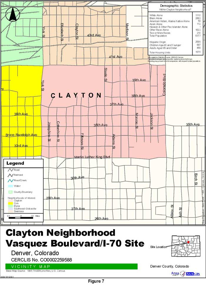 Clayton Neighborhood Vicinity Map