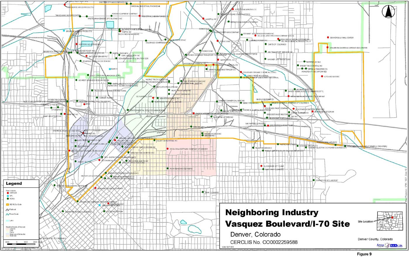 Neighboring Industry Site Location Map