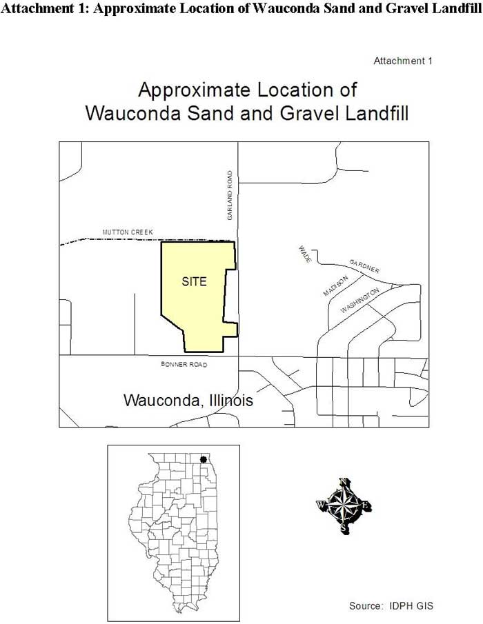Approximate Location of Wauconda Sand and Gravel Landfill