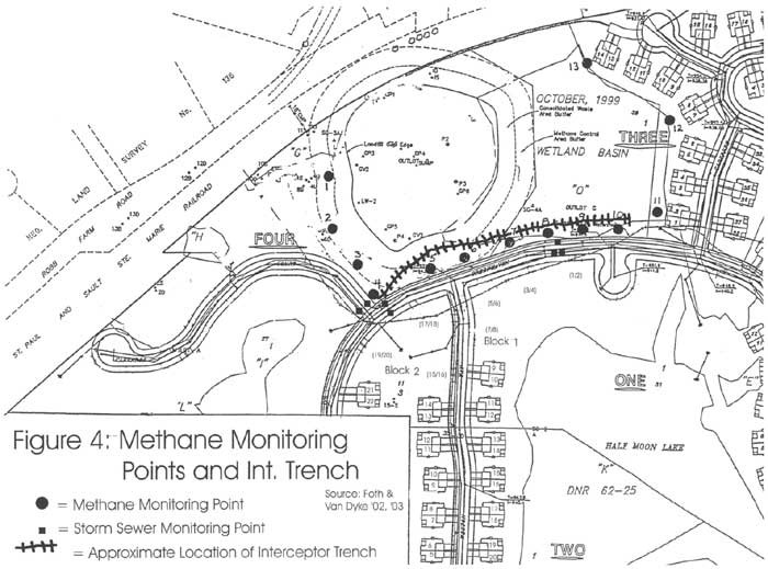 Methane Monitoring Points and Int. Trench