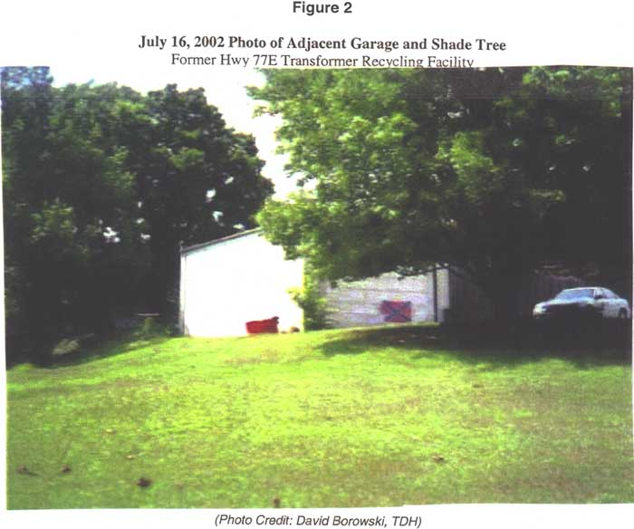 July 16, 2002 Photo of Adjacent Garage and Shade Tree