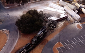 train derailment, chemical spill