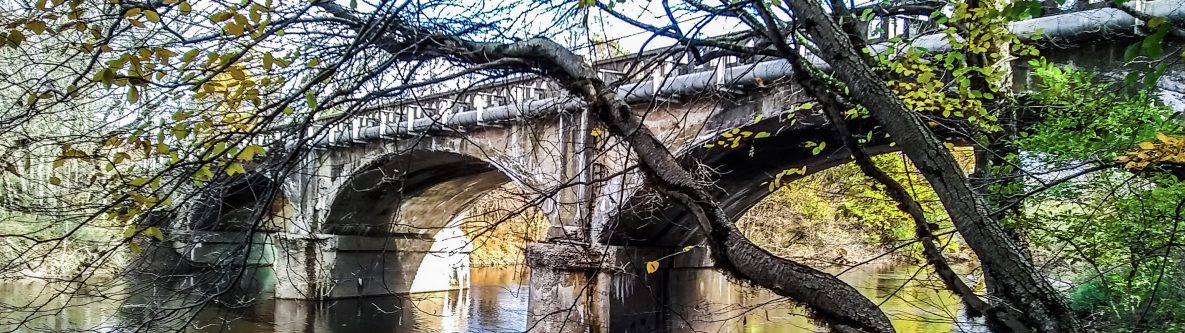 Old Stone Bridge on Buck Road over Neshaminy Creek, Bucks County, Pennsylvania