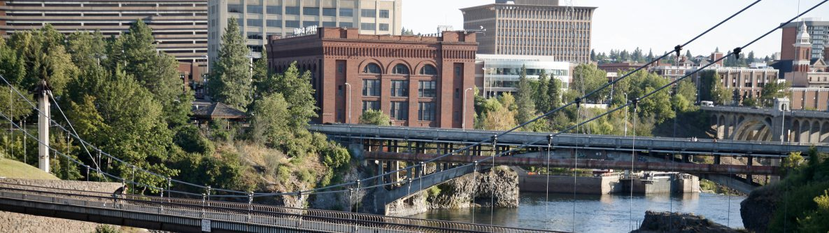 Spokane Washington Bridges And Waterfall
