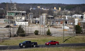 Current chemical production facilities on the site of former Monsanto PCB plant (now owned by Eastman Corporation).