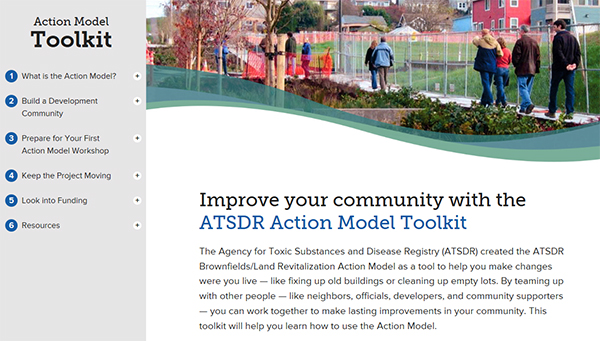 Action Model Toolkit - screenshot of home page