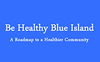 blue island video title frame
