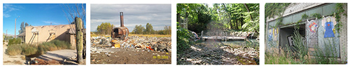 4 images of contaminated sites