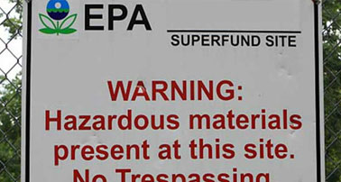 EPA Warning Sign